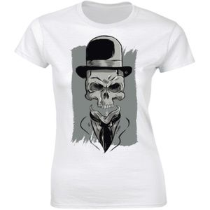 Human Skull Face Scary Anatomy Halloween T-shirt